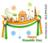 illustration of happy republic... | Shutterstock .eps vector #361394165