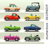 car icon set 7 | Shutterstock .eps vector #361396019