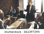 meeting corporate success... | Shutterstock . vector #361397294