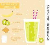 banana  kiwi fruit and honey... | Shutterstock .eps vector #361402799