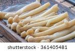 fried golden needle mushroom on ... | Shutterstock . vector #361405481