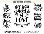 quotes. valentine lettering... | Shutterstock .eps vector #361408214
