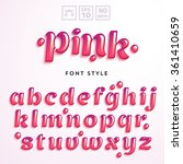 vector letters made of pink... | Shutterstock .eps vector #361410659