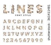 vector trendy flat font with... | Shutterstock .eps vector #361411481