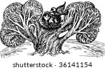 birds on tree   Shutterstock .eps vector #36141154