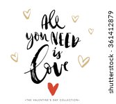 all you need is love.... | Shutterstock .eps vector #361412879