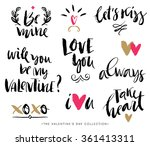 valentines day calligraphic... | Shutterstock .eps vector #361413311