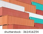 colorful stack of container... | Shutterstock . vector #361416254