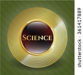 science gold emblem | Shutterstock .eps vector #361417889