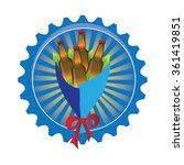 beer bouquet for man | Shutterstock .eps vector #361419851