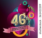 46th anniversary  party poster  ... | Shutterstock .eps vector #361422209
