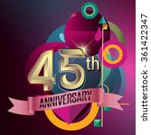45th anniversary  party poster  ... | Shutterstock .eps vector #361422347