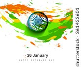 grungy tricolor indian flag... | Shutterstock .eps vector #361423601