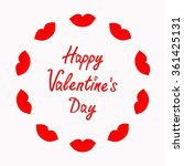 happy valentines day. love card.... | Shutterstock .eps vector #361425131