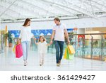 families with a child with bags | Shutterstock . vector #361429427