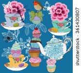 tea party  | Shutterstock .eps vector #361430807