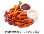 chicken goujons  breaded and... | Shutterstock . vector #361432169