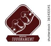 boxing icon design  | Shutterstock .eps vector #361433141