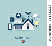 vector concept of smart house... | Shutterstock .eps vector #361433219