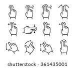 vector touch screen gestures... | Shutterstock .eps vector #361435001