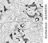 tracery seamless calming... | Shutterstock .eps vector #361440554