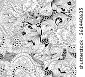 tracery seamless calming... | Shutterstock .eps vector #361440635