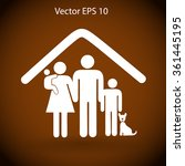 family with a pet vector...   Shutterstock .eps vector #361445195