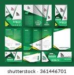 golf club stationery set...   Shutterstock .eps vector #361446701