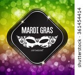 mardi gras carnival background... | Shutterstock .eps vector #361454414