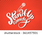 stand up comedy. | Shutterstock .eps vector #361457501