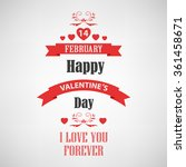 valentine retro poster with red ... | Shutterstock .eps vector #361458671