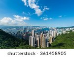 view of hong kong during the day | Shutterstock . vector #361458905