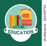 education and school icons  | Shutterstock .eps vector #361459721
