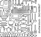 kitchen tool collection  ... | Shutterstock .eps vector #361460867