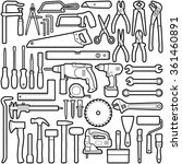 construction tool collection  ... | Shutterstock .eps vector #361460891