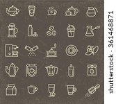 coffee line icon set | Shutterstock .eps vector #361468871