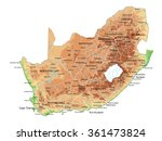 high detailed south africa...