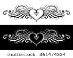 stylized heart with wings in...