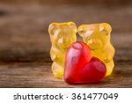 Macro Two Yellow Gummy Bears...