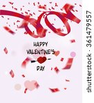 happy valentine's day... | Shutterstock .eps vector #361479557