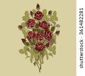 red roses. vector illustration.   Shutterstock .eps vector #361482281