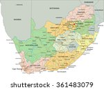 south africa   highly detailed... | Shutterstock .eps vector #361483079