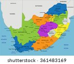 colorful south africa political ... | Shutterstock .eps vector #361483169