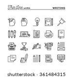 writing  blogging  best seller... | Shutterstock .eps vector #361484315