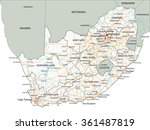 high detailed south africa road ... | Shutterstock .eps vector #361487819