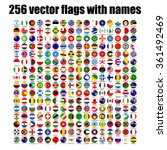 flags of the world  round icons ... | Shutterstock .eps vector #361492469