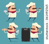 chef cartoon set in retro style  | Shutterstock .eps vector #361492565