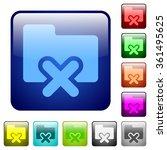 set of folder cancel color...