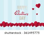 valentine's day wish card... | Shutterstock .eps vector #361495775
