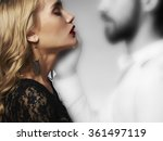 lovely couple in tenderness... | Shutterstock . vector #361497119